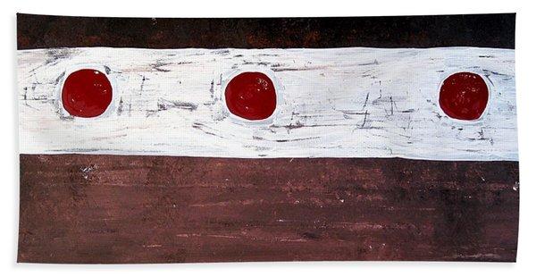 Alignment Original Painting Hand Towel
