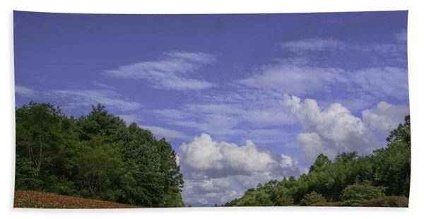 Along A Mountain Road Hand Towel