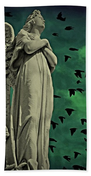 Angel Of Stone Bath Towel