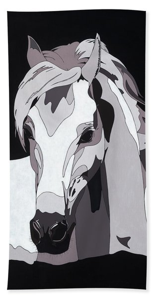Arabian Horse With Hidden Picture Hand Towel