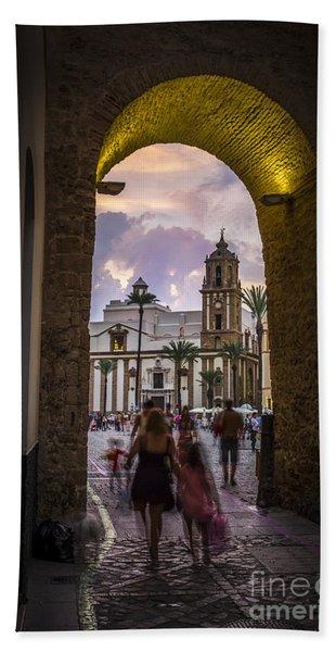 Arc Of The Rose Cadiz Spain Bath Towel