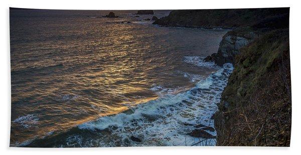 Ares Estuary Mouth Galicia Spain Bath Towel