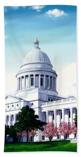 Arkansas Capitol Blossoms Hand Towel