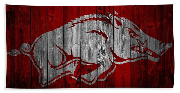 Arkansas Razorbacks Barn Door Bath Towel