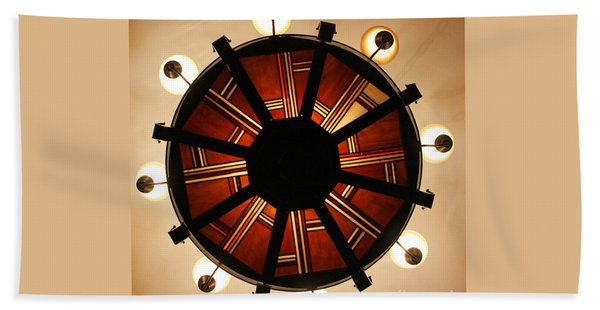 Arts And Crafts Chandelier At Summit Inn Hand Towel