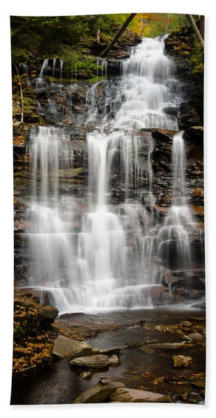 Waterfall At Ricketts Glen Hand Towel