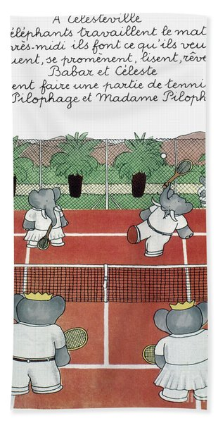 Babar The Elephant, 1930s Bath Towel