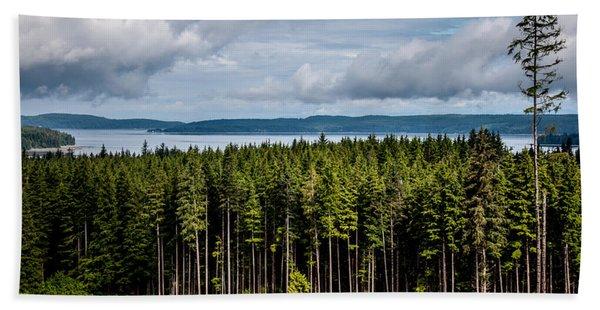 Logging Road Landscape Bath Towel