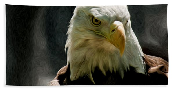 Bald Eagle Giving You That Eye Hand Towel