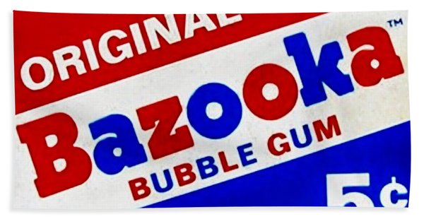 Bazooka Bubble Gum  Bath Towel