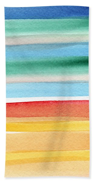 Beach Blanket- Colorful Abstract Painting Bath Towel