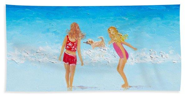 Beach Painting Beach Play Hand Towel