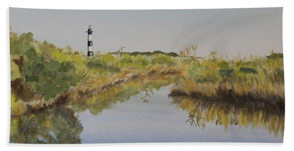Beacon On The Marsh Hand Towel