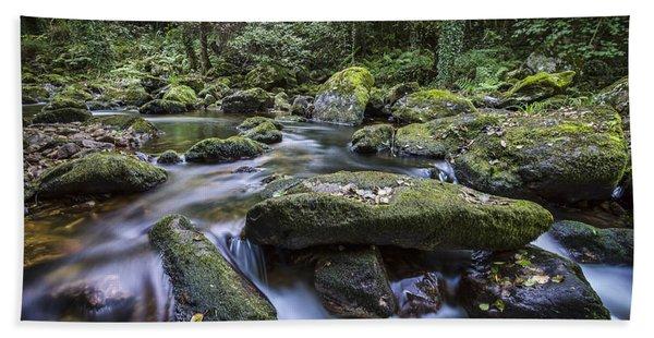 Belelle River Neda Galicia Spain Bath Towel