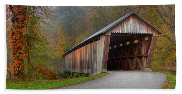 Bennett Mill Covered Bridge Bath Towel