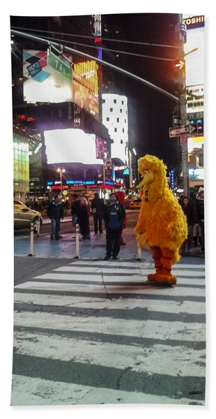 Big Bird On Times Square Bath Towel