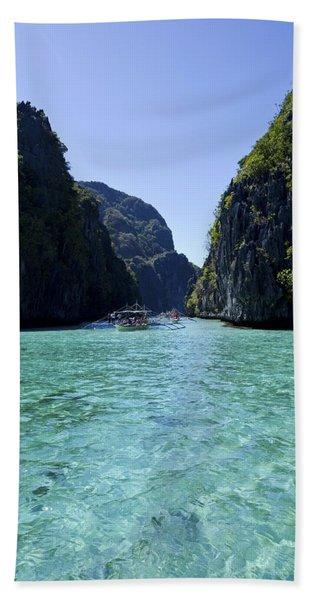 Big Lagoon In Palawan Hand Towel