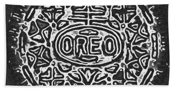 Black And White Oreo Bath Towel