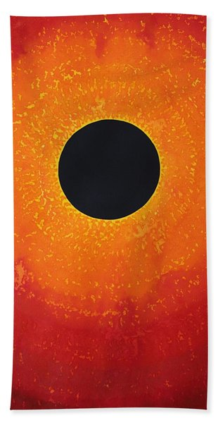 Black Hole Sun Original Painting Bath Towel