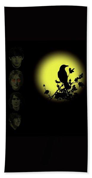 Blackbird Singing In The Dead Of Night Bath Towel