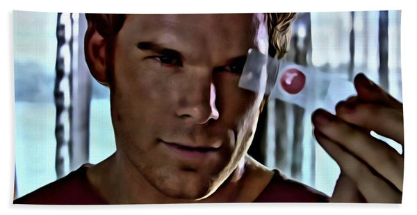 Blood Slide Dexter Hand Towel