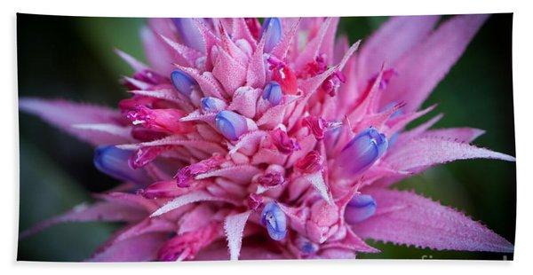 Blooming Bromeliad Hand Towel