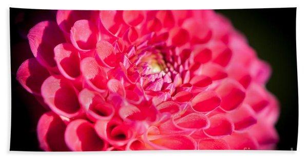 Blooming Red Flower Bath Towel