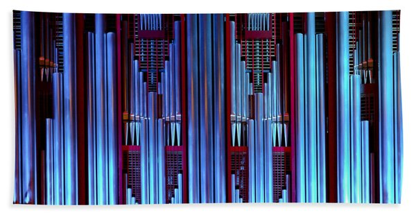 Blue Organ Pipes Hand Towel
