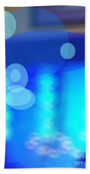 Blue Spheres Hand Towel