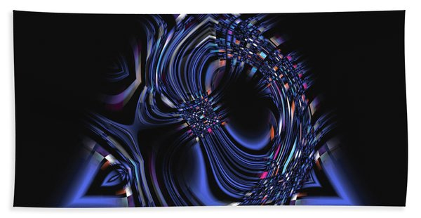 Blue Triangle Jewel Abstract Hand Towel