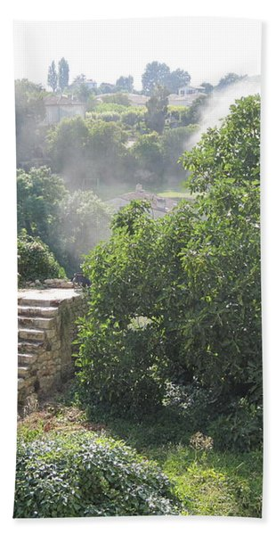 Bordeaux Village Cloud Of Smoke  Bath Towel