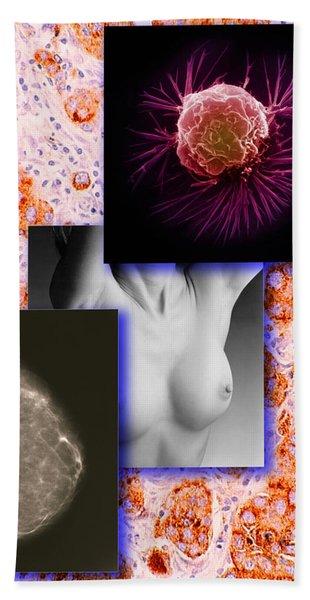 Breast Cancer Montage Bath Towel