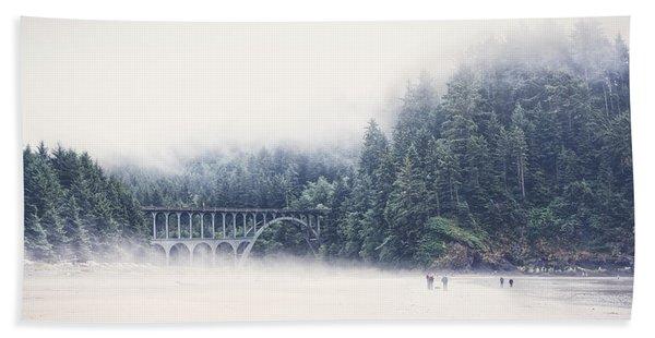 Bridge In The Mist  Hand Towel