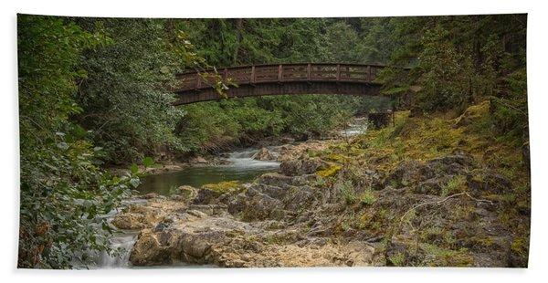 Bridge In The Woods Hand Towel