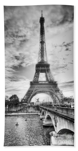 Bridge To The Eiffel Tower Hand Towel