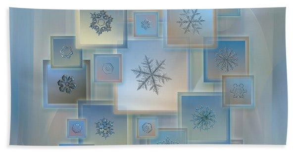 Snowflake Collage - Bright Crystals 2012-2014 Bath Towel