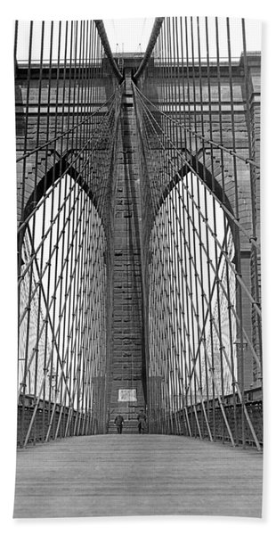 Brooklyn Bridge Promenade Hand Towel