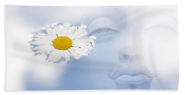 Buddha Water Flower Abstract Bath Towel