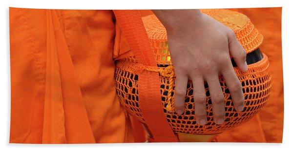 Buddhist Monks Hand Hand Towel