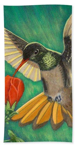 Buff-bellied Hummingbird Bath Towel
