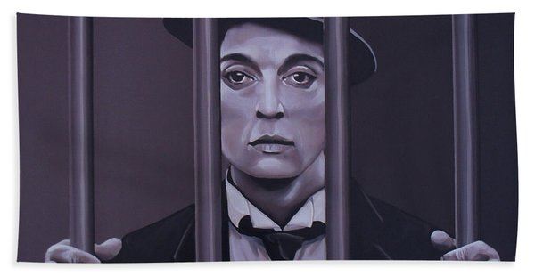 Buster Keaton Painting Bath Towel