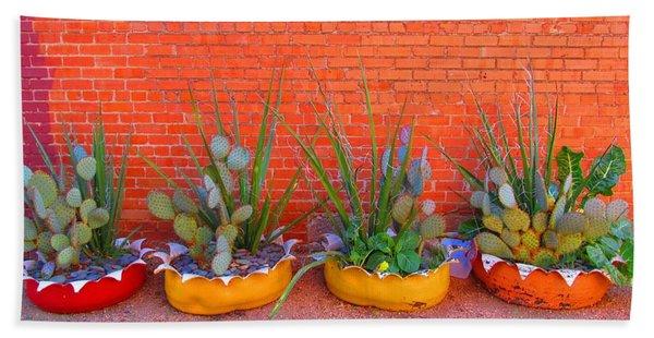 Cacti Quartet Hand Towel