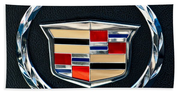 Hand Towel featuring the photograph Cadillac Emblem by Jill Reger