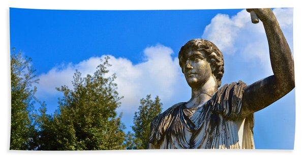 Caesar On Blue Sky Bath Towel