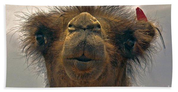 Camel In The Gobi- Mongolia Hand Towel
