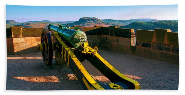 Cannon At The Fortress Koenigstein Hand Towel