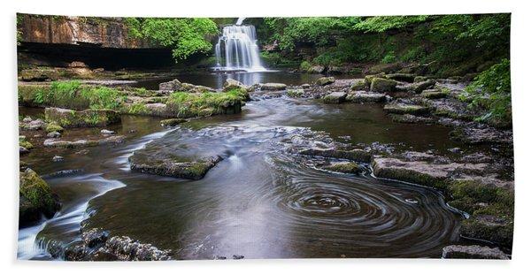 Cauldron Falls At West Burton Hand Towel