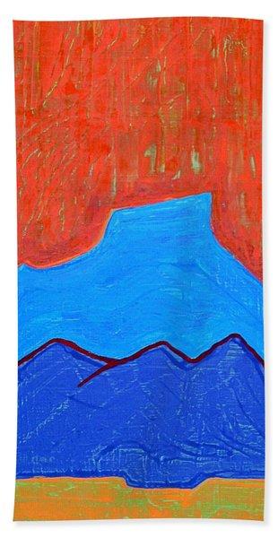 Cerro Pedernal Original Painting Sold Hand Towel