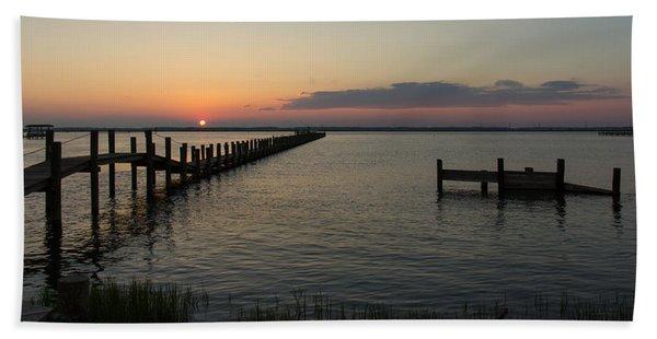 Chincoteague Island Sunset Hand Towel