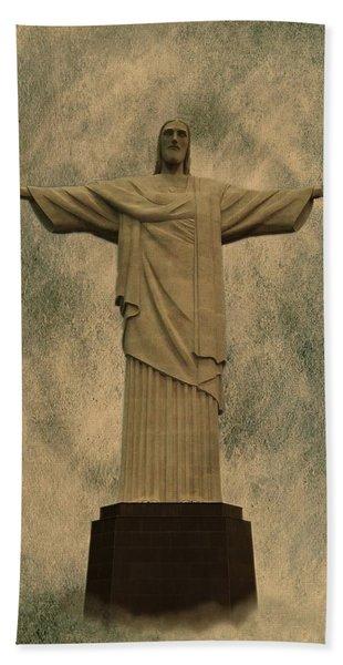 Christ The Redeemer Brazil Bath Towel